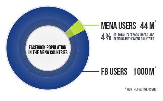 حصاد نهاية العام 2012 لفيسبوك في المنطقة العربية [انفوجرافيك]