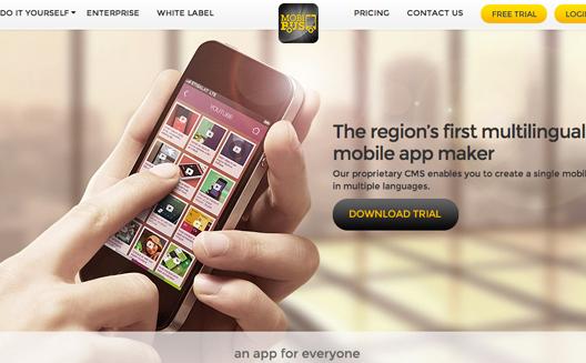 Mobibus, a multilingual app maker designed for the Arab world