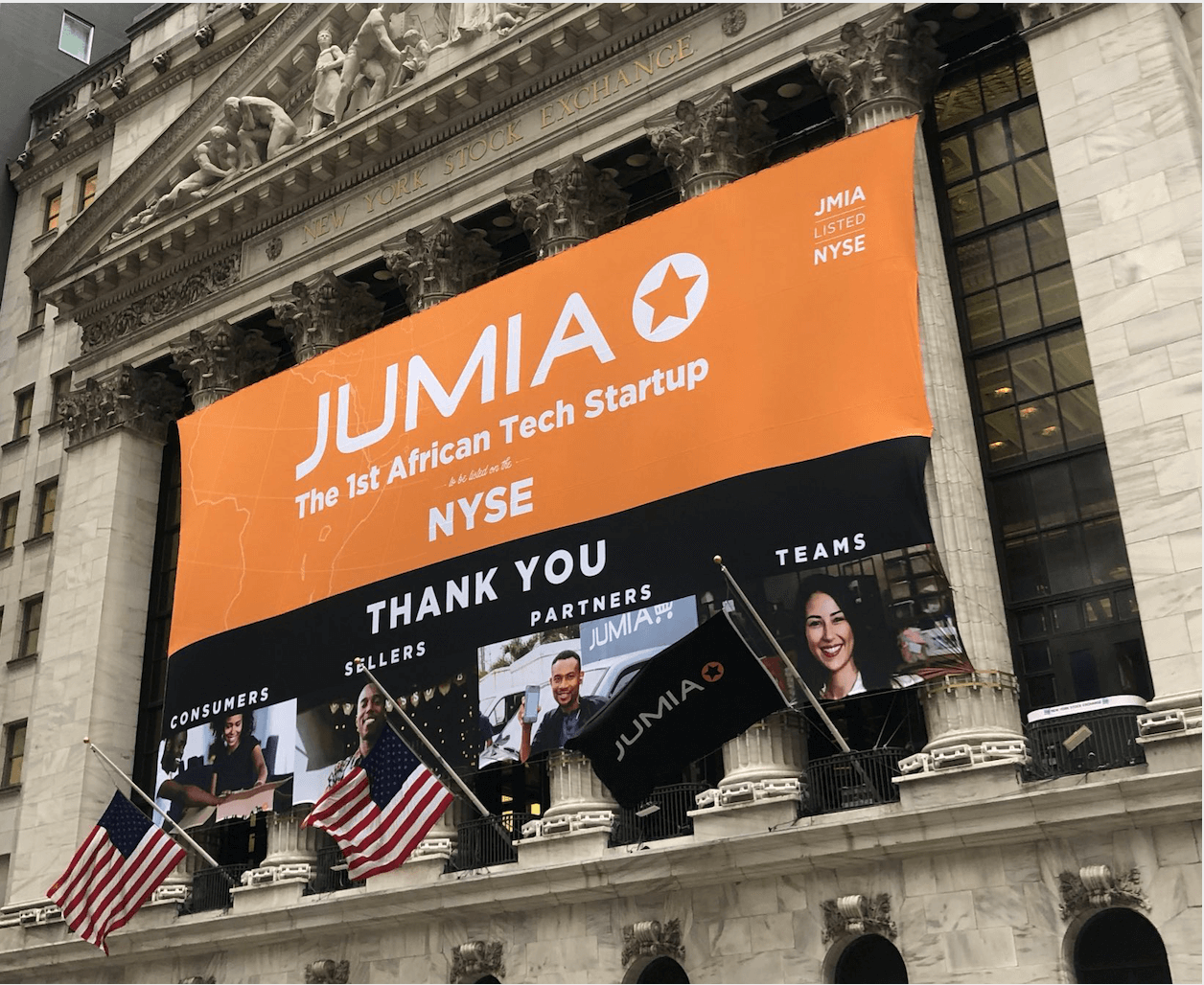 """Jumia shares """"pop"""" 75 per cent on NYSE debut"""