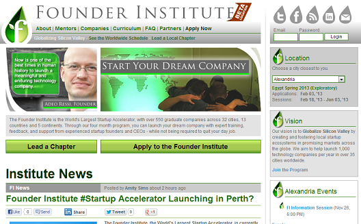 Founder Institute to Open Startup Accelerator in Alexandria, Egypt