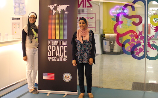 Meet the 16-year olds who brought the NASA Space Apps hackathon to Jordan