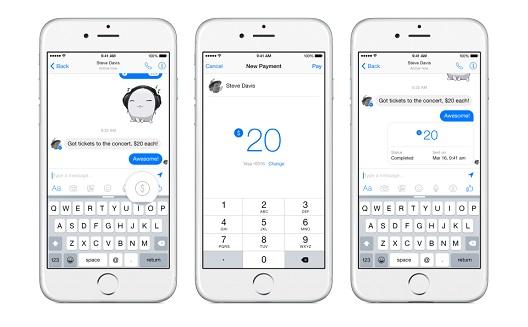 Facebook adds free peer-to-peer payments in Messenger