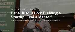 Panel discussion: building a startup, find a mentor!