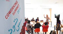 Coworking space community gathers in Tunisia