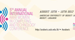 ArabWIC 5th Annual International Conference on Arab Women in Computing