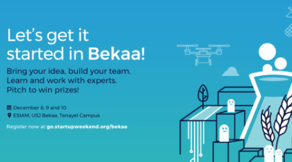 Startup Weekend Bekaa - Ag   Food   Water Innovation
