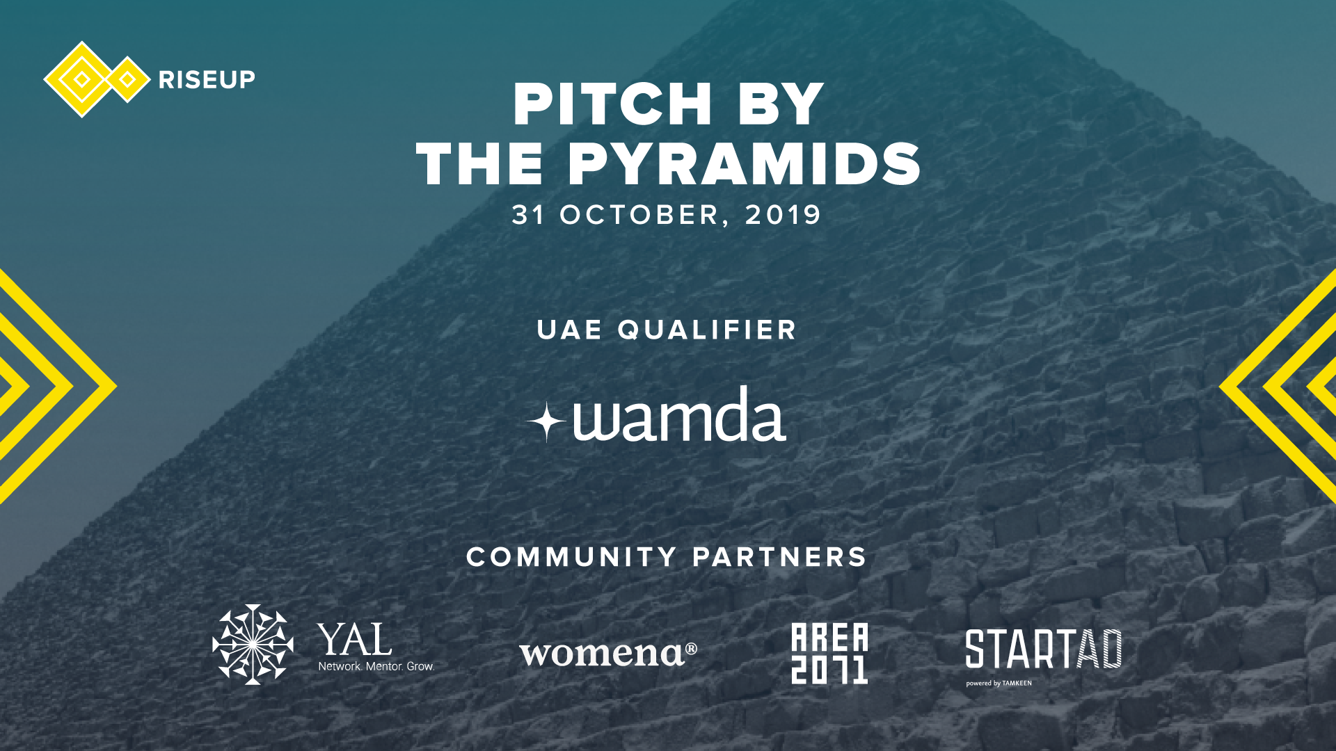[Register to attend] Pitch by the Pyramids - UAE local Qualifier, Oct 31