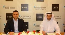 'أوبر' توقع اتفاقية لدخول مطار الملك خالد الدولي