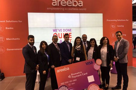 areeba debuts contactless biometric payment cards in the Middle East