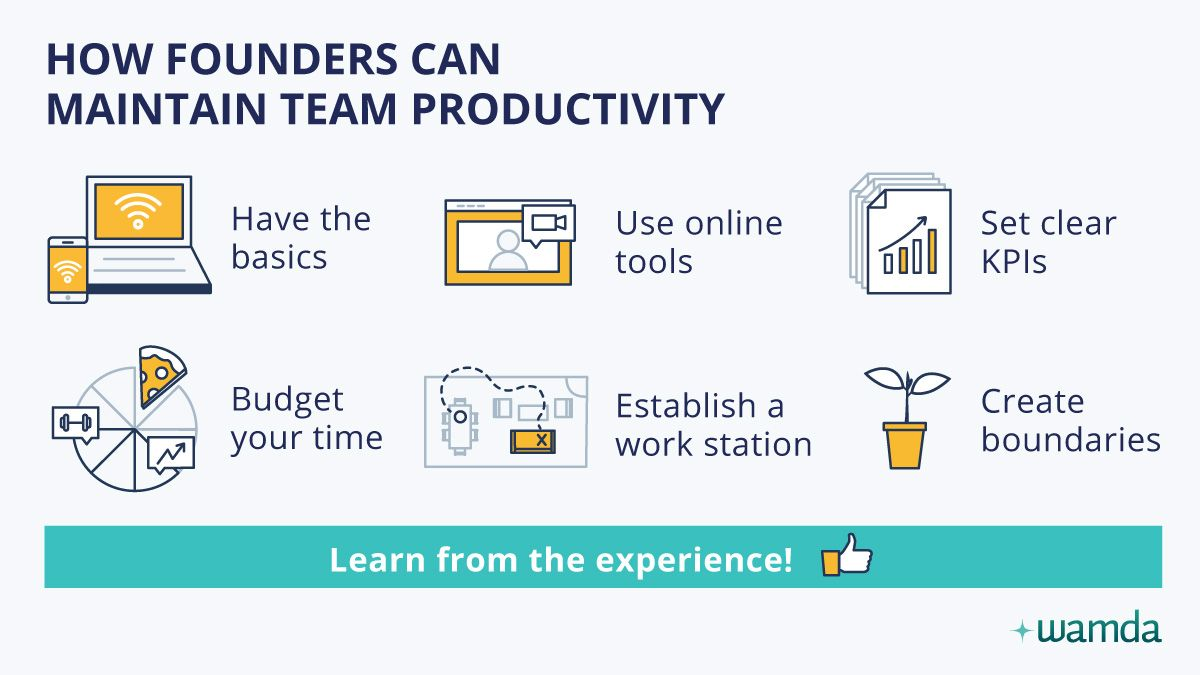 Remote working: How founders can maintain team productivity
