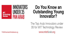 Innovators Under 35 Pan Arab, nomination closes October 10th