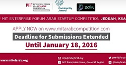 Extended Deadline: 9th MIT Enterprise Forum Arab Startup Competition in Jeddah, KSA