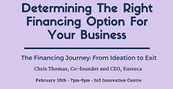 Entrepreneur Journey Series: Determining the Right Financing Option for your Business
