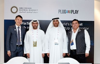Abu Dhabi Global Market announces fintech innovation center and partnership with Plug and Play
